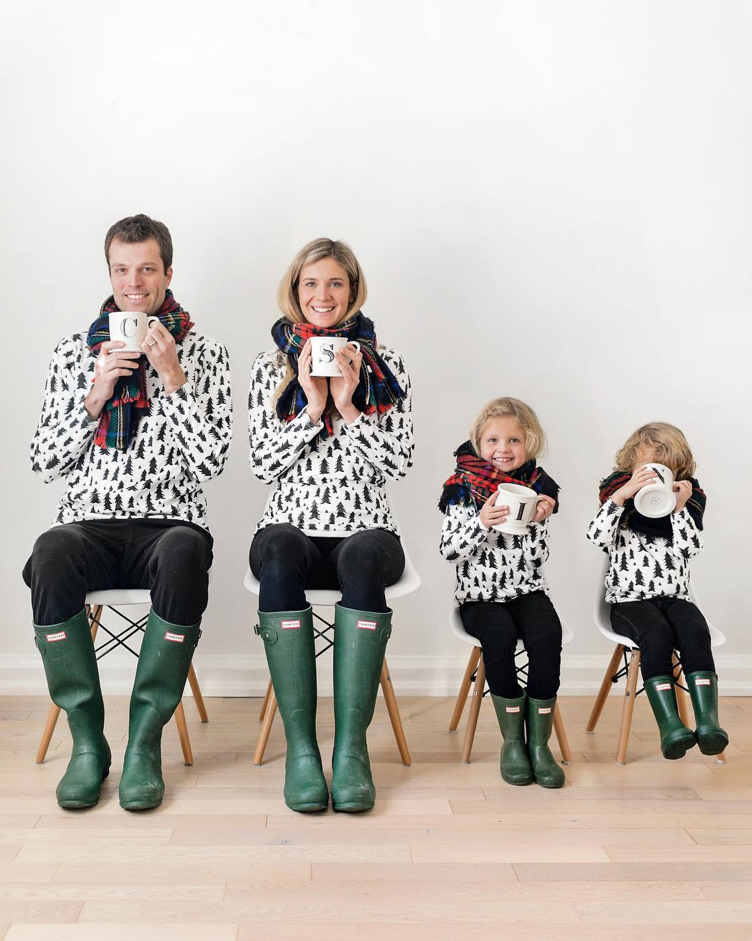 favourite matching outfits for the whole family  happy