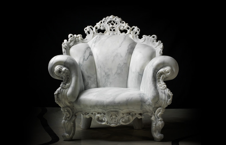 Alessandro Mendini's Proust chair for marble exhibition
