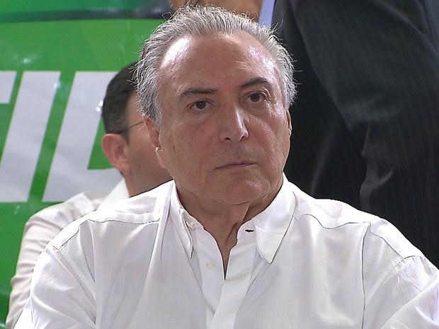 Michel Temer falou sobre impeachment durante visita em João Pessoa (Foto: Reprodução/ TV Cabo Branco)