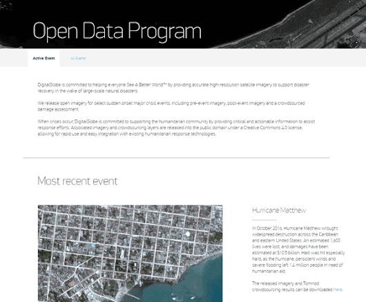 New Open Data Program Launched by DigitalGlobe ~ GIS Lounge