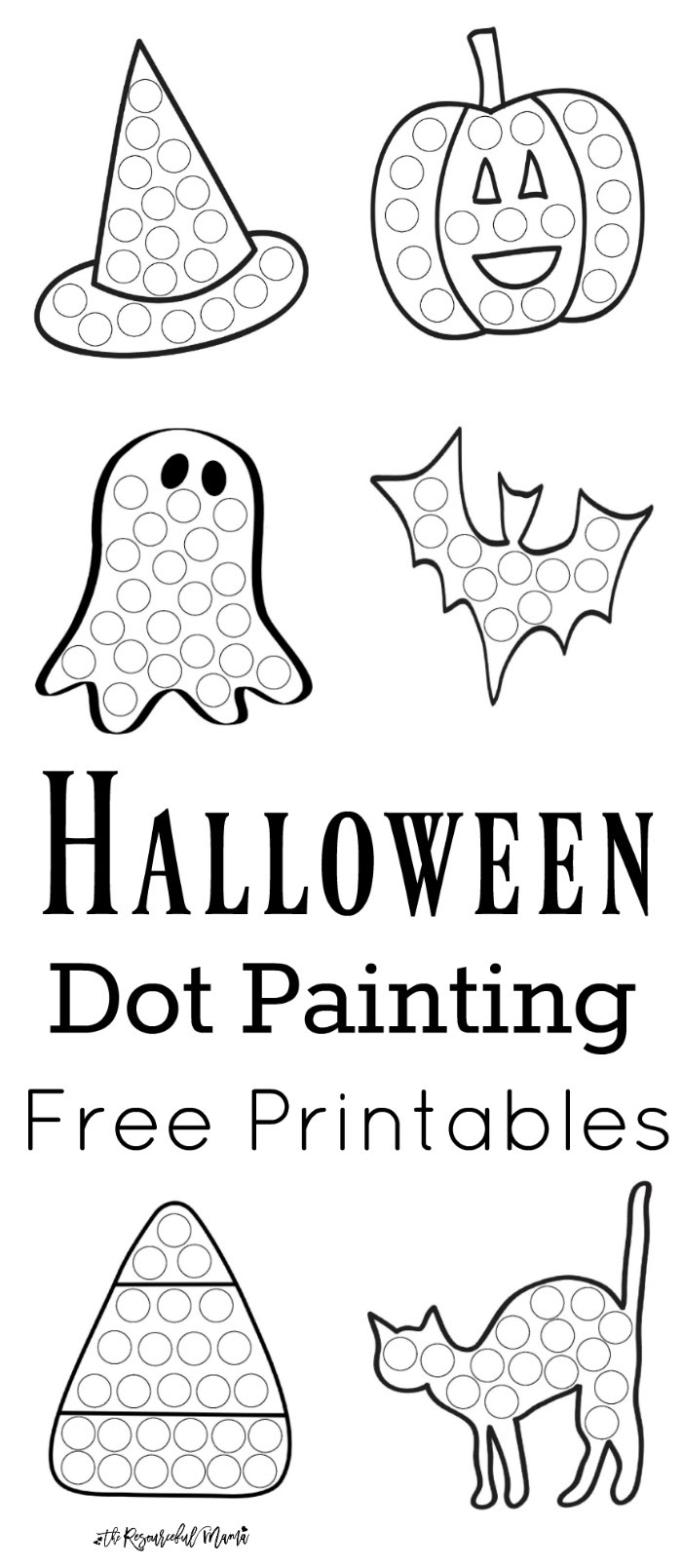 Halloween Dot Painting Free Printables The Resourceful
