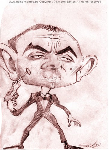 Johnny-English-caricature-sketch [Copyright Nelson Santos] by caricaturas
