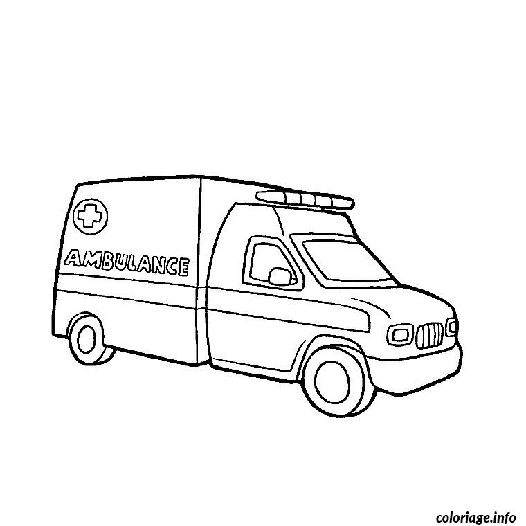Coloriage Camion Ambulance Jecoloriecom