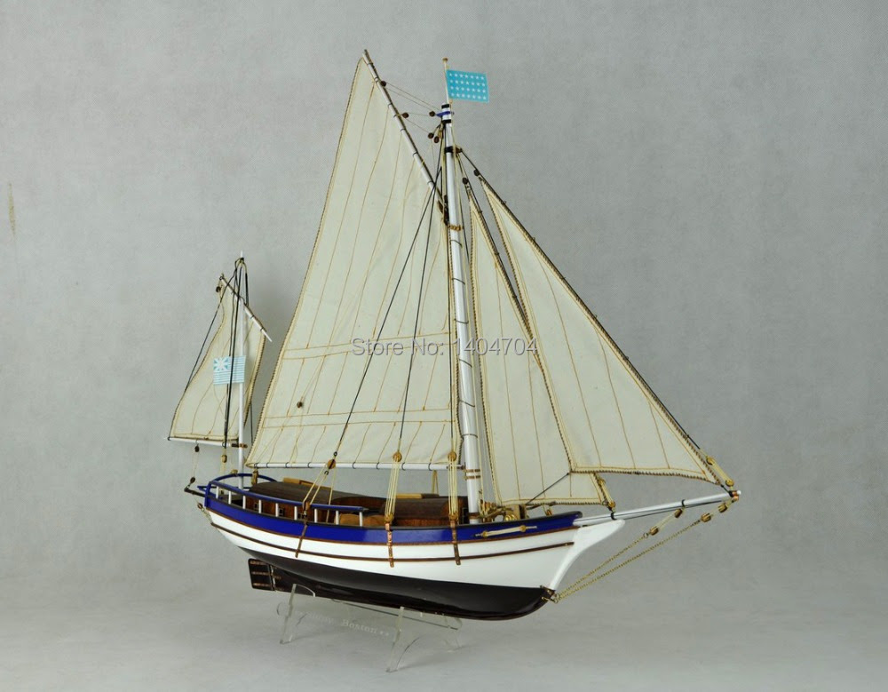 wooden sail boat Ship model kits the SPARY Boston modern sailing boat
