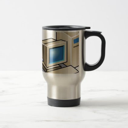 Retro Computer Travel Mug