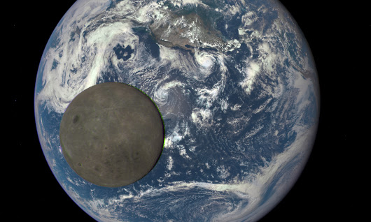 Dark side of the moon revealed by Nasa camera a million miles from Earth – video
