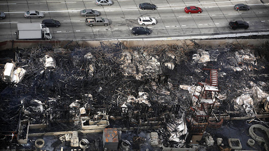 L.A. files $20-million lawsuit against Da Vinci Apartments developer over huge downtown fire