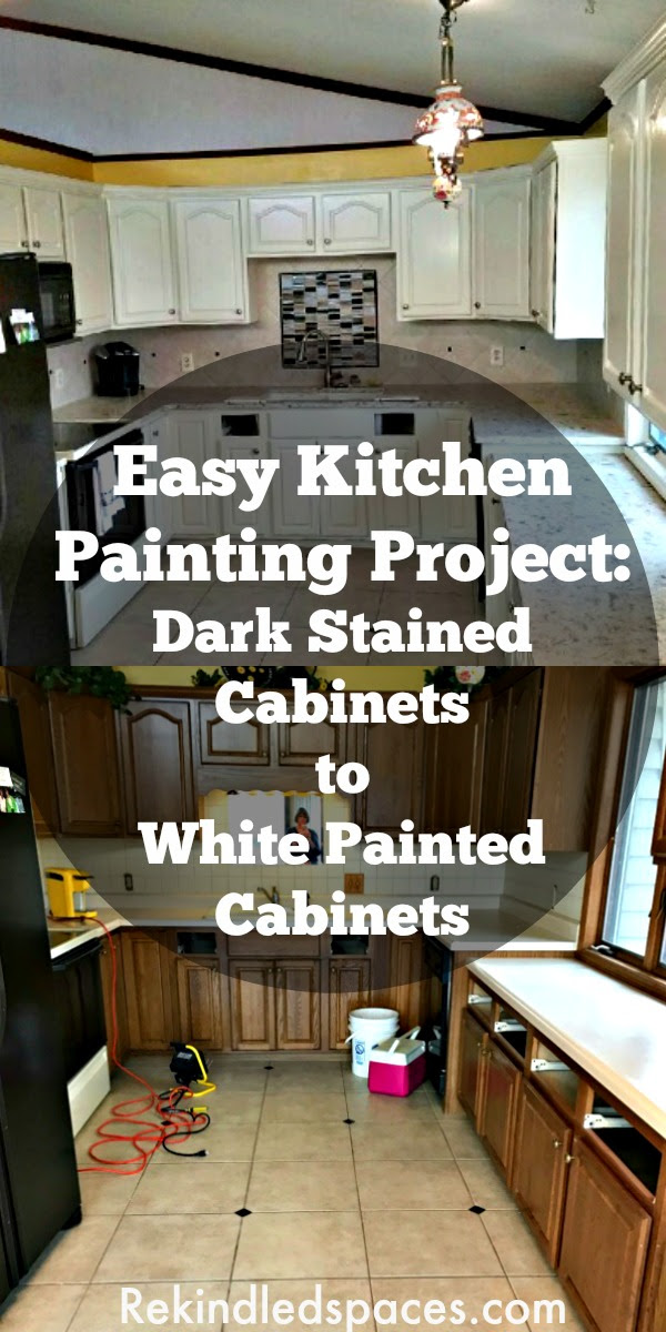 Easy Painting Project For Your Kitchen Cabinets | Dark ...
