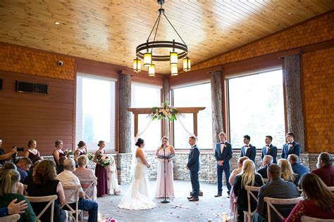 Rustic Portrait Heavy Fall wedding at Tailwater Lodge