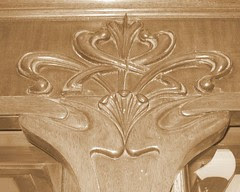 Carving Detail on Display Cases