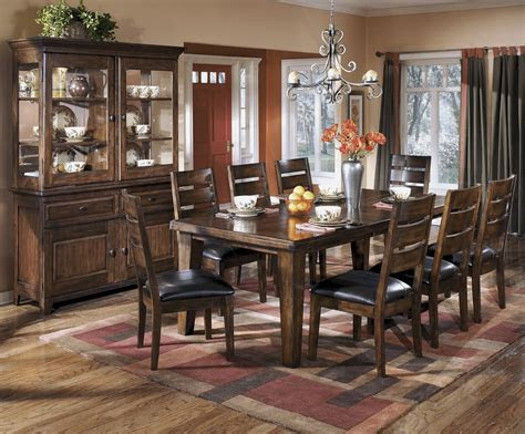 pc brown ashley dining room furniture casual hot sectionals