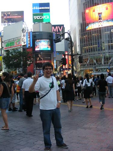 At shibuya cross