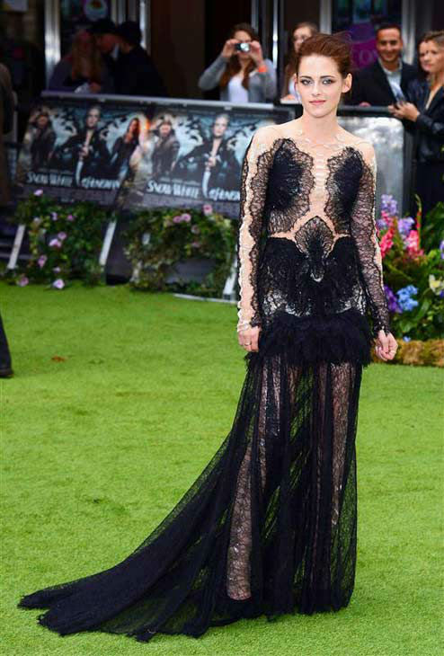 Kristen Stewart appears at the London premiere of 'Snow White and the Huntsman' on May 14, 2012.