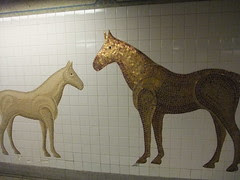 tile horses by central park