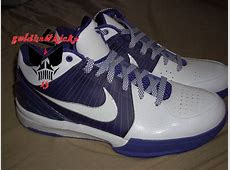 2009 Nike Zoom KOBE IV 4 TB WHITE PURPLE SILVER GREY BLACK