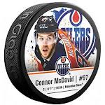 Sherwood Connor McDavid Edmonton Oilers Photo Souvenir Hockey Puck