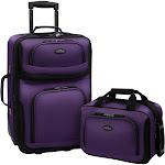 Traveler's Choice Rio 2-Piece Carry-On Luggage Set - Purple
