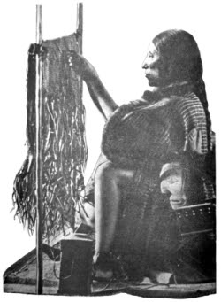 Kwakiutl squaw, weawing