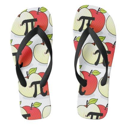 Red Apple Pi Flip Flops