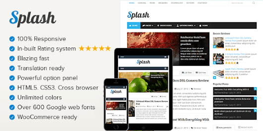 Splash WordPress Rating & Review System Theme