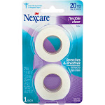 Nexcare Flexible Clear First Aid Tape - 2 count