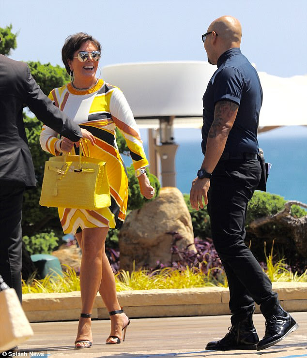 A lot to smile about: Kris Jenner stepped out for a solo dinner in Los Angeles on Tuesday