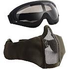 v12+x400 half-face mesh mask & goggle set