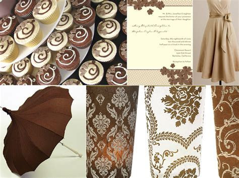Earthy nature inspired  brown wedding ideas