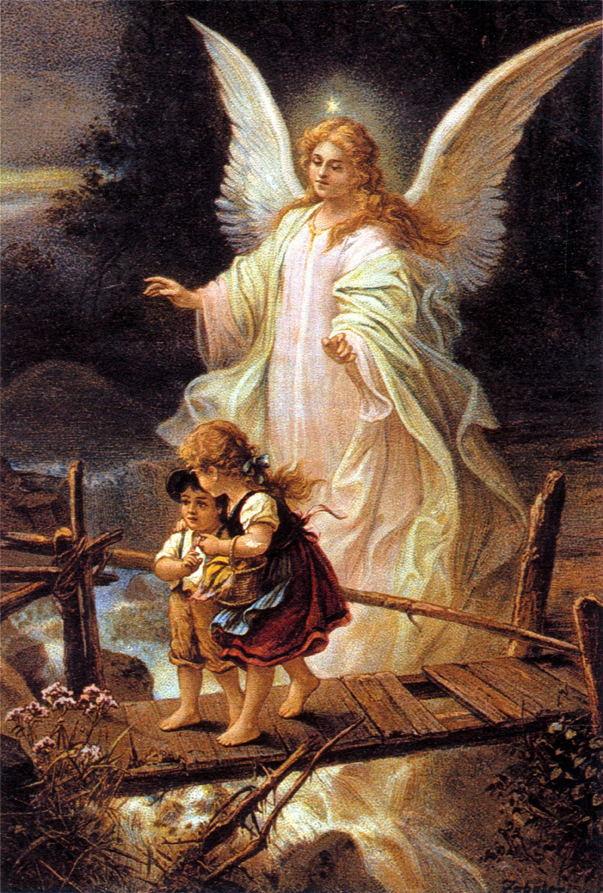 The Story Behind This Famous Guardian Angel Painting Appalachian