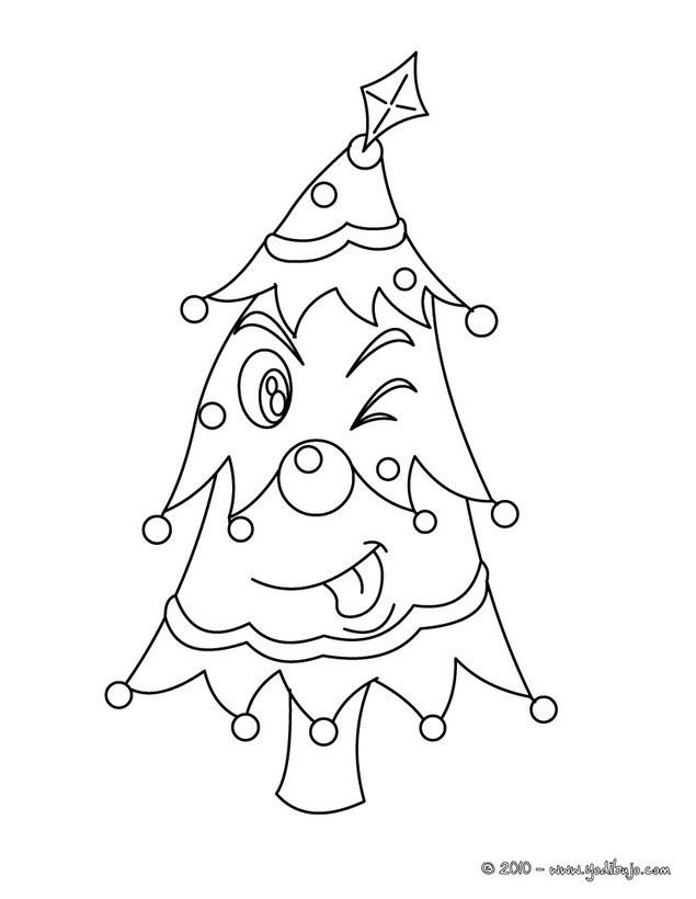 Dibujos Para Colorear Arbol De Navidad Con Niños Y Regalos Es
