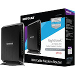 Netgear Nighthawk C7000 Wireless Router - Cable Modem - 2.4 GHz / 5 GHz - Gigabit Ethernet - 802.11b/a/g/n/ac
