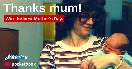 Win to make your mum's day - Pocketbook & Airtasker