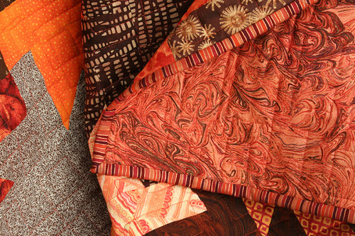 Browns quilt: binding and back