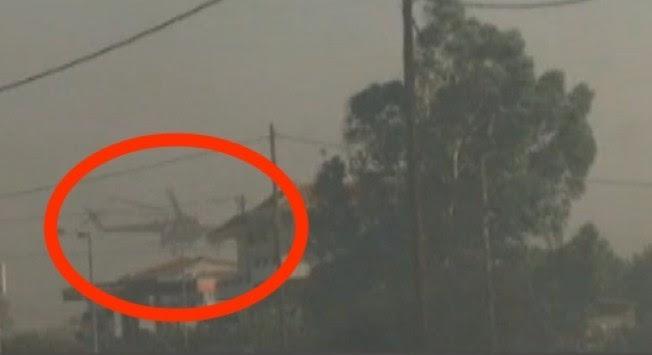 Φωτιά στη Λακωνία - Συγκλονιστικό βίντεο! Χειριστής `σώζει` ελικόπτερο την τελευταία στιγμή!