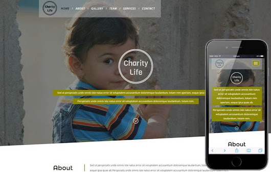 Charity Life a Social and People Responsive Web Template