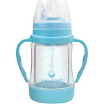 green sprouts Glass Sip & Straw Cup - Aqua