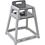 Koala Kare Plastic High Chair, Gray, Unassembled