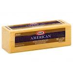 Kraft American Ribbon Sliced Cheese, 5 Pound - 4 per case.