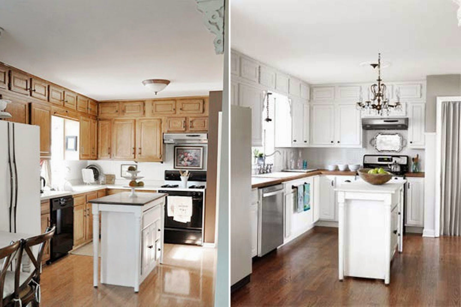 Paint Kitchen Cabinets White Before and After - Home ...