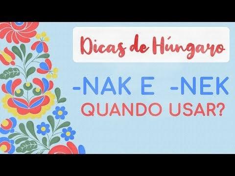 Estudar Húngaro - Sufixos -NAK e -NEK