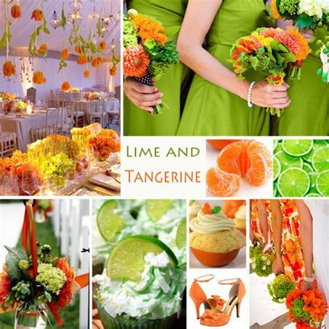 Lime and Tangerine Wedding Colors   Lime and tangerine is