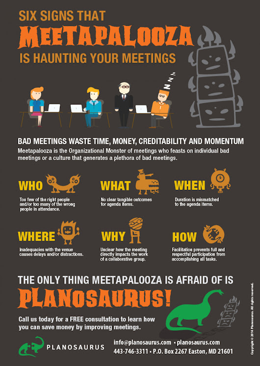 Six signs that Meetapalooza is haunting your meetings | Visual.ly