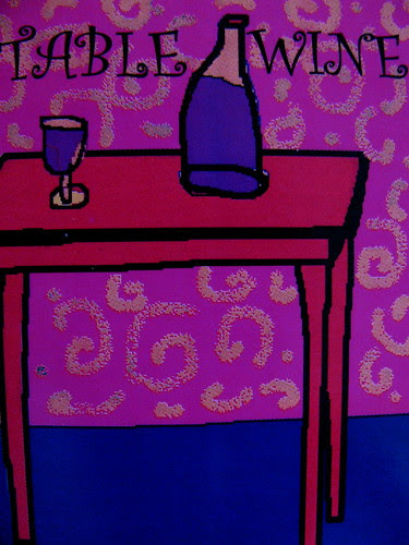 red table wine, by nAncY