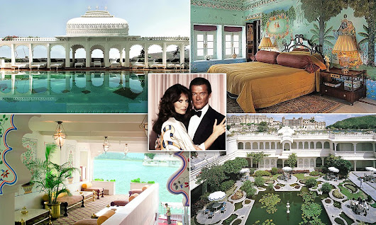 Inside the lavish 'floating' Indian palace where Octopussy was filmed