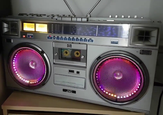 Arduino Blog » Add colorful effects to your 1980s boombox with Arduino and LEDs