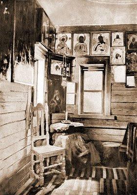 Interior of St. Seraphim's hermitage, 1903