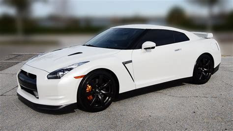 My New Nissan GT R Premium in Pearl White!   YouTube