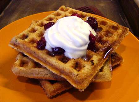 Waffles With Coconut Whippy Cream