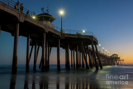 Huntington Beach Pier At Dusk by Paul Quinn