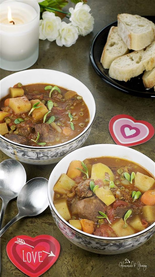 Slow Braised Red Wine Lamb Stew with Moroccan Spices | Homemade & Yummy
